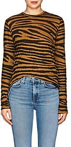 Proenza Schouler Women's Tiger-Pattern Cotton T-Shirt-Bronze, Blk