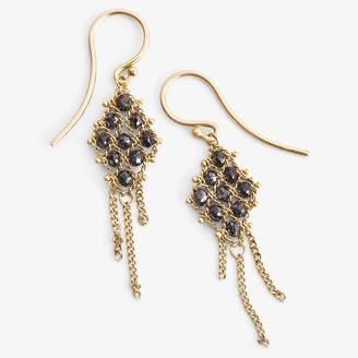 Black Diamond Amali Textile Earring Black Diamond, Gold