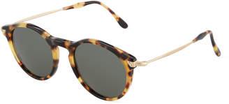 Kyme Plastic/Metal Round Sunglasses