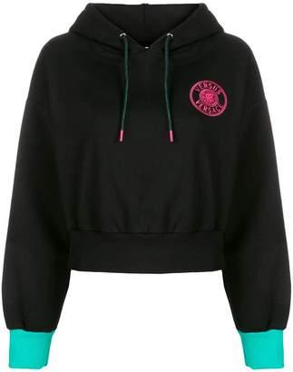 Versus embroidered logo hoodie