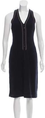 Akris Punto Knit Sleeveless Midi Dress