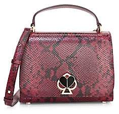 Kate Spade Women's Medium Nicola Twistlock Python-Embossed Leather Top Handle Bag