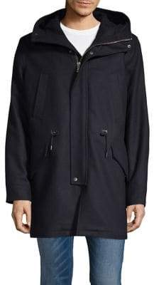Cole Haan Melton Wool Blend Insulated Anorak Jacket