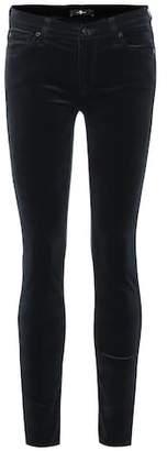 7 For All Mankind The Skinny mid-rise velvet jeans