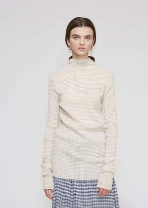 Jil Sander Long Sleeve Gingham Top
