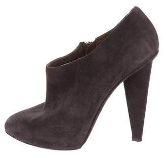 Dolce & Gabbana Suede Pointed-Toe Booties