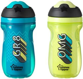 Tommee Tippee Insulated Sipper Tumbler, and Green, 9 Ounce, 2 Count