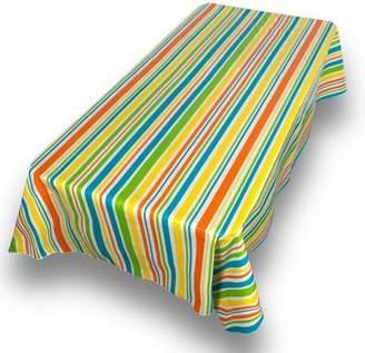 "Carnation Sunshine Premum Quality Vinyl Flannel Back Oblong Oblong Tablecloth 52"" x 70"""