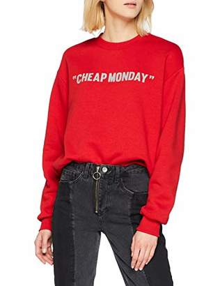 Cheap Monday Women's Get Sweat Review Sweatshirt, Red, (Size:M)