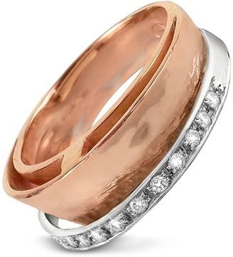 Torrini Tama - Diamond Channel 18K Rose Gold Band Ring