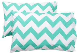 Pottery Barn Teen Chevron Pillowcases, Set of 2, Pool