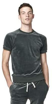 Todd Snyder Velour Short Sleeve Sweatshirt in Green