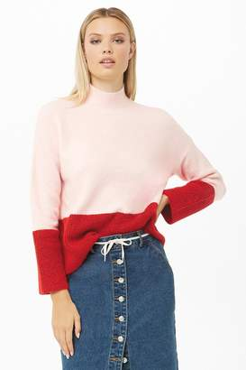 Forever 21 Ribbed Colorblock Sweater