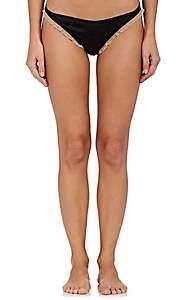 Kiki de Montparnasse Women's Le Reve Silk Bikini Briefs-Nude, Blk