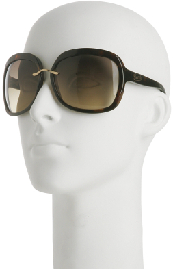 Gucci dark brown tortoise oversized sunglasses