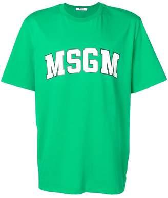 MSGM university style logo T-shirt