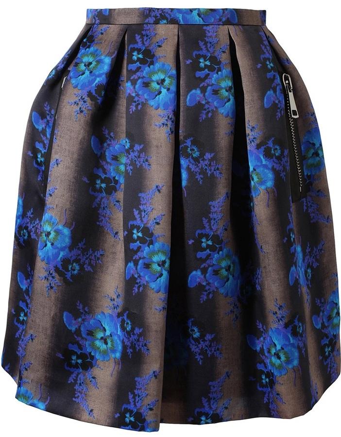 Christopher Kane Heavy Silk Organza Mini Princess Skirt
