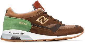 New Balance brown and green MSX90BG leather and suede sneakers