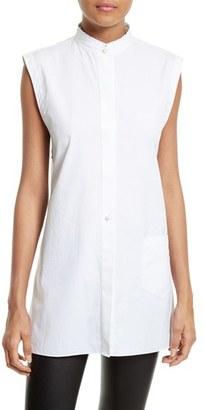 Women's Helmut Lang Back Tie Cotton Shirt $320 thestylecure.com