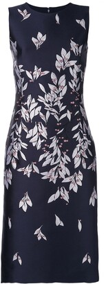 Oscar de la Renta straight-cut dress with petal print