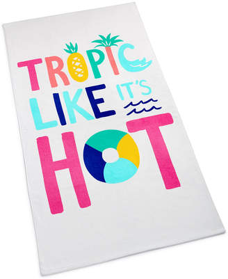 Martha Stewart Collection Tropic Like It's Hot Cotton Graphic-Print Beach Towel