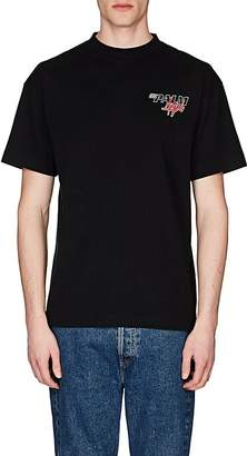 Palm Angels Men's Racing-Logo Cotton T-Shirt