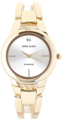 Anne Klein AK/2710 Gold-Tone Diamond Watch