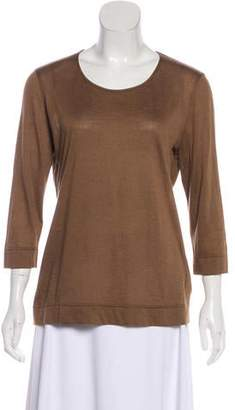 Akris Cashmere and Silk-Blend T-Shirt w/ Tags