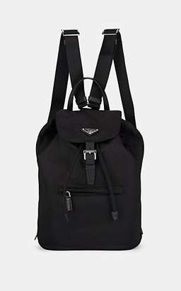 1cdaac4c45b796 Prada Women's Vela Leather-Trimmed Backpack - Black