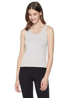 Ruby Diva Women's Fitted Button Front Scoop Neck Tank Top XS