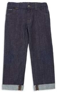 Dolce & Gabbana Little Boy's Stretch Cotton Side Stripe Jeans