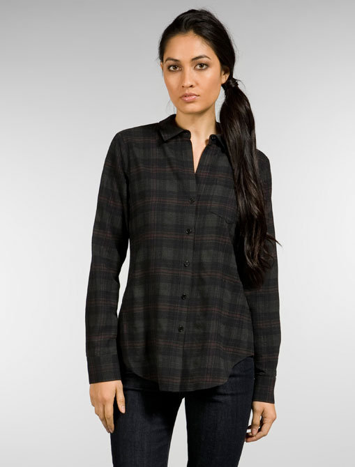 Theory Nikala Plaid Shirt