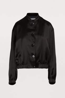 Jil Sander Logo bomber jacket