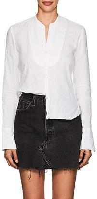 Greg Lauren Women's Studio Tuxedo-Bib Linen Shirt