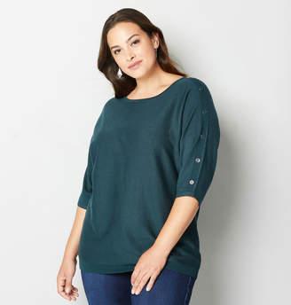 Avenue Button Detail Sweater