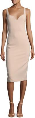 Elizabeth and James Nevyn Sleeveless Scuba Fitted Bustier Dress