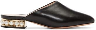 Nicholas Kirkwood Black Casati Pearl Slippers