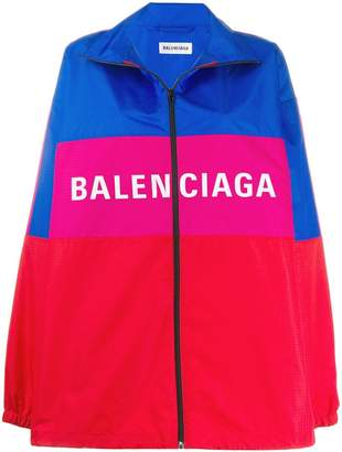 Balenciaga zip-up logo jacket