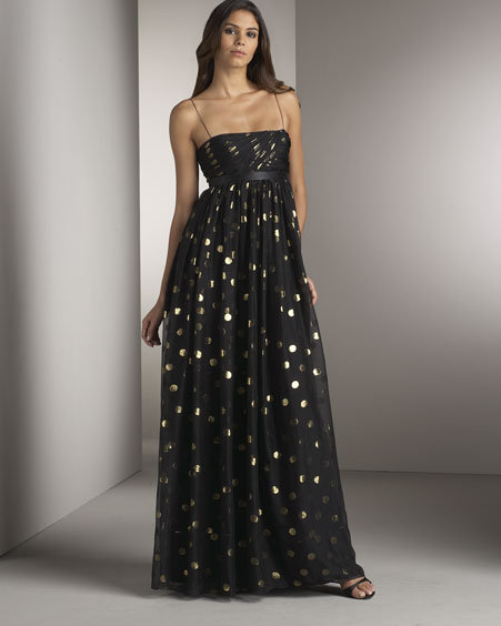 Notte by Marchesa Polka-Dot Gown