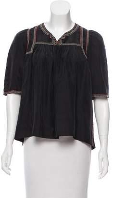 Isabel Marant Embellished Silk Top