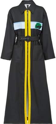 Miu Miu long zipped trench coat
