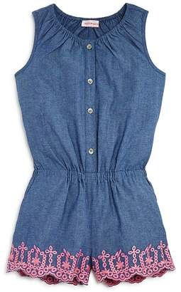 Design History Girls' Chambray Romper - Little Kid