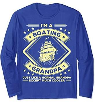 Boating Grandpa Long Sleeve T-Shirt Funny Boating Lovers Tee