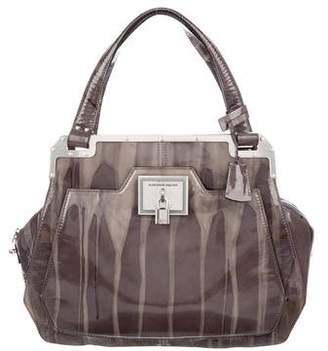 Alexander McQueen Printed Patent Leather Tote