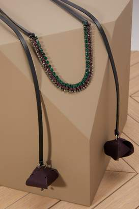 Marni Flower and rhinestone necklace