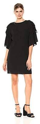 Wild Meadow Women's Ruffle Sleeve Mini Sheath Dress L