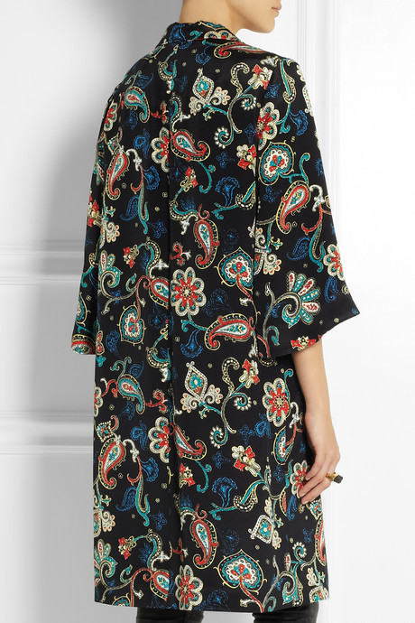 Kate Moss for Topshop Paisley-print silk coat