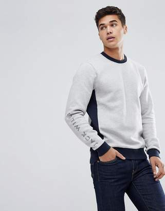 Jack Wills Glenthorne Sweat In Grey Marl