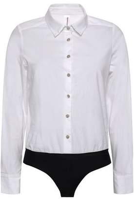 Commando Stretch-cotton Poplin Bodysuit