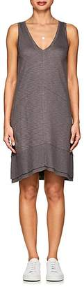 Lilla P WOMEN'S RIB-KNIT-TRIMMED PIMA COTTON-BLEND DRESS